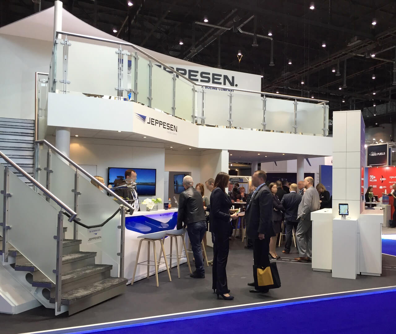 Messestand für Jeppesen in Friedrichshafen - Internationale Messen - designed by Service Factory