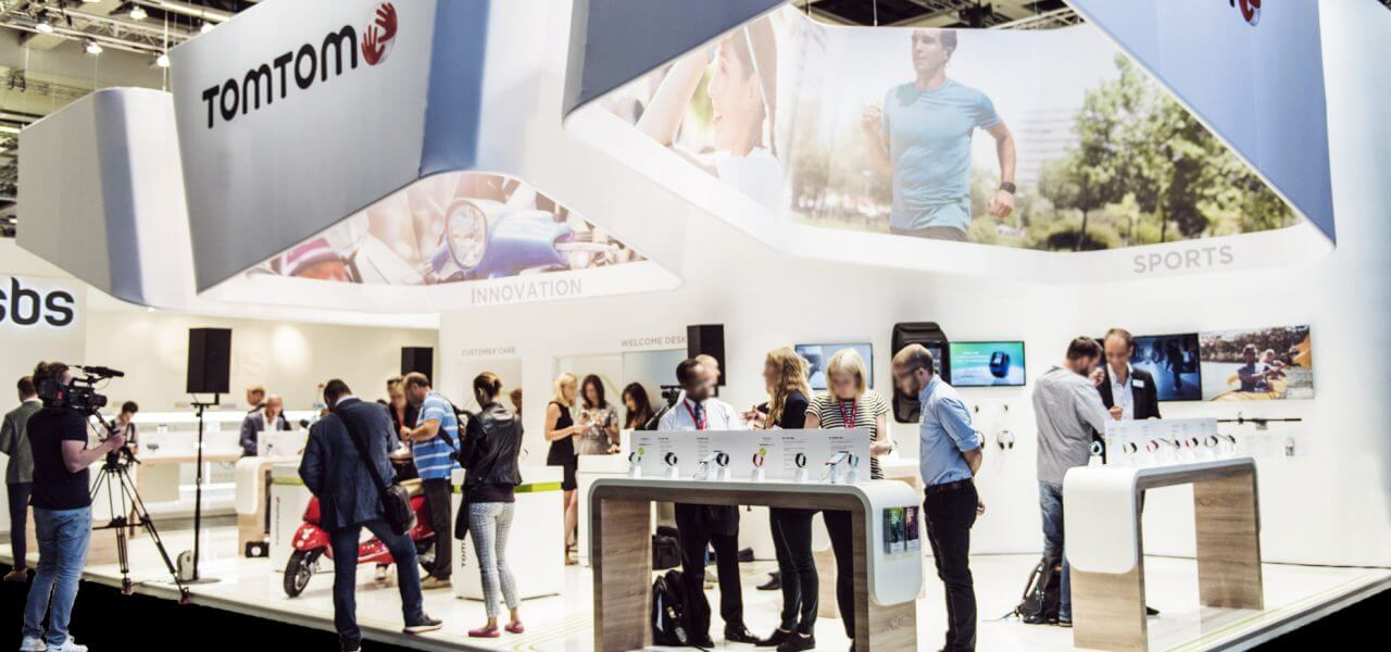 TomTom IFA Messestand - internationale Messe - Service Factory, Eventagentur in München, Brand Experience